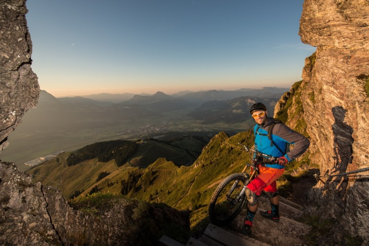 Kurt on one of the beautiful mountains in the area. Picture: Michael Werlberger